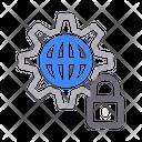 Lock Security World Icon