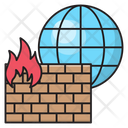 Firewall Security Internet Icon