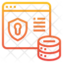 Internet Security Database Hosting Icon