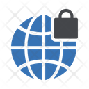 Internet Security Global Lock Icon