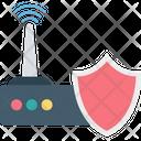 Internet Security Shield Internet Modem Icon