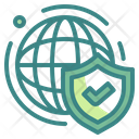 Internet Security Network Security World Icon