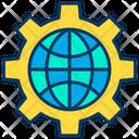 Internet Setting Internet Optimization Global Optimization Icon