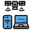 Online Satellite Smartphone Icon