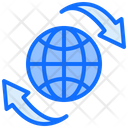 Internet Sync Global Sync Global Recycling Icon