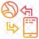 Smartphone Communication World Icon