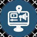 Internet Videos Advertising Icon