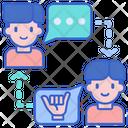 Interpreter Translator Interaction Icon