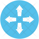 Intersection Four Arrows Icon