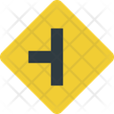 Intersection Left Intersection Two Way Road Icon