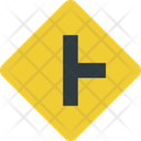 Intersection Right Intersection Two Way Road Icon