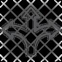 Intersection Arrows Direction Arrows Three Way Arrow Icon