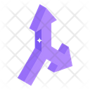 Intersection Arrows Icon