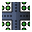 Intersection Road Sign Icon