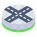 Crossroads Intersection Roads Route Intersection Icon
