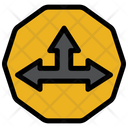 Intersection Sign Icon