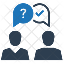 Ask Question Business Discussion Icon