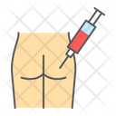 Intramuscular Buttock Injection Icon