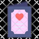 Card Weddind Card Heart Icon