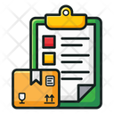 Inventory Checklist Verified List Icon