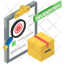 Parcel Scanning Inventory Logistics Icon
