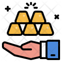 Business Collect Gold Icon