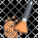 Fingerprint Powder Brush Icon