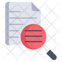 Investigation File Investigation Data Magnifying Icon