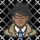 Investigator Trenchcoat African Icon