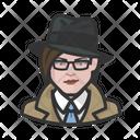 Investigator Woman Trenchcoat Investigator Icon