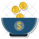 Investment Coin Cup Icon