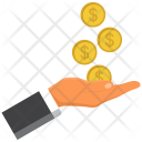 Investment Coin Hand Icon