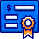 Investment Letter Certificate Icon