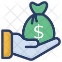 Investment Money Saving Coin Sack Icon