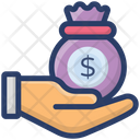 Investment Finance Money Bag Icon