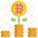 Investment Bitcoin Cryptocurrency Icon