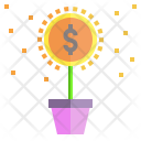 Investment Growth Flower Icon