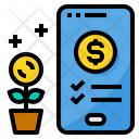 Investment Startup Smartphone Icon