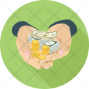 Investment Coins Hands Icon