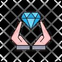Diamond Care Hand Icon