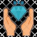 Diamond Hand Economy Icon