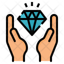 Diamond Hand Economy Icon