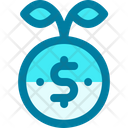 Growth Investment Coin Icon