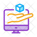Hand Hold Cube Icon