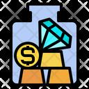 Gold Coin Diamond Icon