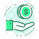 Hand Coin Cash Icon