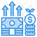 Growth Money Currency Icon