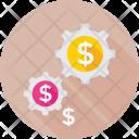 Investment Cog Dollar Icon