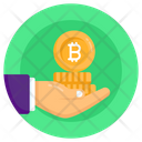 Bitcoin Savings Digital Wealth Currency Stack Icon