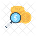 Investment Research Magnifying Icon